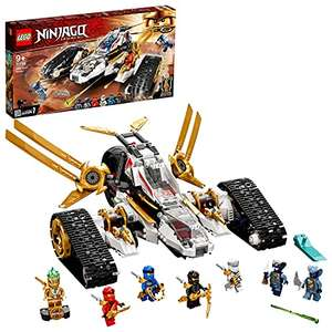 LEGO NINJAGO 71739 Legacy Ultra Sonic Raider 4-in-1 Vehicle Building Set with Motorbike and Plane with 7 mini figures £53.98 at Amazon