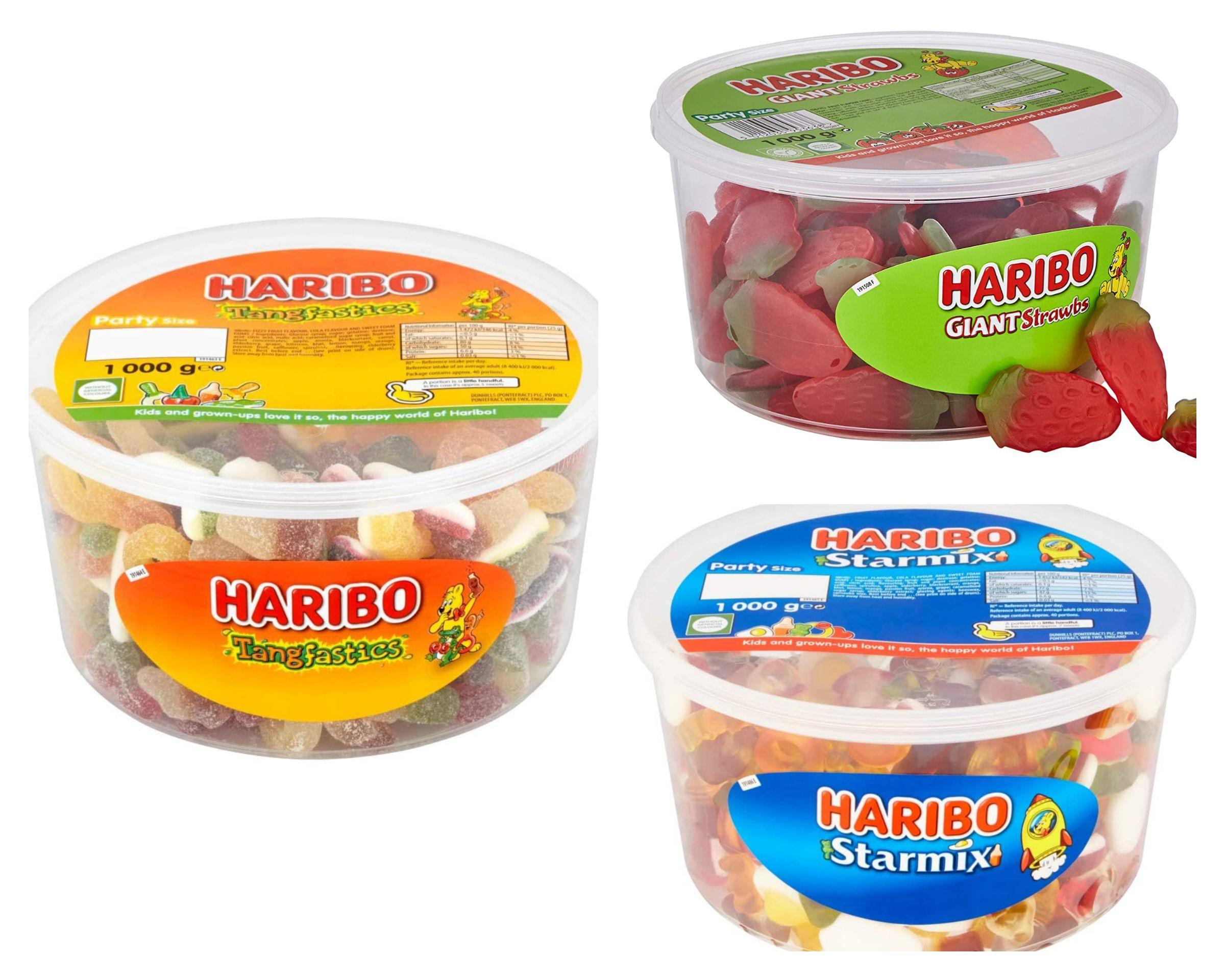 Haribo Tangfastics/Starmix/Giant strawberry Tub 1kg £4 each @ B&M Small Heath