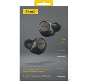 JABRA Elite 75t Wireless Bluetooth Noise-Cancelling Earbuds Titanium Black - Open Box - £88.51 with code at ebay / currys_clearance