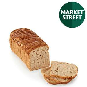 Market Street Granary Loaf Malted Brown Sliced /Tiger Bloomer / White Farmhouse Bread (800g X 2) - £1.50 @ Morrisons