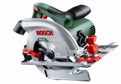 Bosch PKS 55 Circular Saw (saw blade, parallel guide, cardboard box, 1200W) £64 with voucher @ Amazon