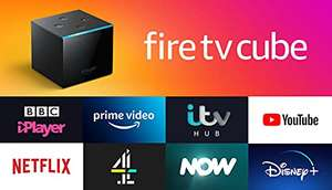 Fire TV Cube   Hands free with Alexa, 4K Ultra HD Streaming Media Player £79.99 @ Amazon