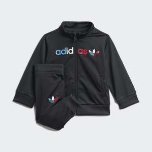 Kids Unisex Originals 62 Adicolor Primeblue Tracksuit in black (0-3 months to 3-4 years) for £16.80 delivered (Creators Club) @ adidas