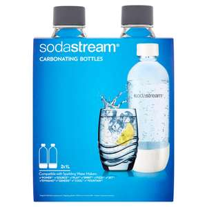 Sodastream carbonating bottle 1L twin pack - £6 in store at ASDA Cwmbran