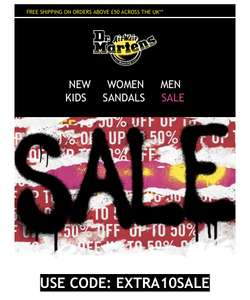 Extra 10% off all Dr Martens sale items