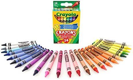 Crayola 12 Assorted Colouring Crayons Multicoloured, 24 pk - 90p (+£4.49 Non Prime) @ Amazon
