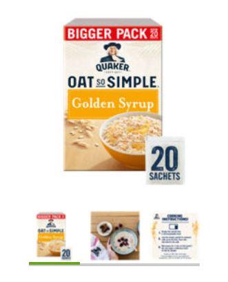 Quaker Oat So Simple Golden Syrup Family Pack Porridge Sachets £2.50 at Asda