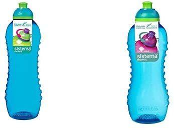 Sistema Twist 'n' Sip Water Bottle - 620ml + 460 ml - Blue £3.50 (+£4.49 non-prime) @ Amazon