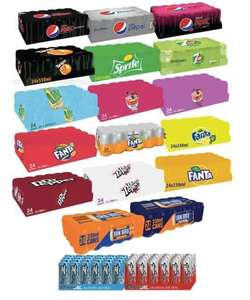 3 For £19 - 24 x 330ml Can Cases of Pepsi Max/Cherry Fanta Fruit Twist/Lemon-7up Free- Lucozade & More @ The Food Warehouse Iceland