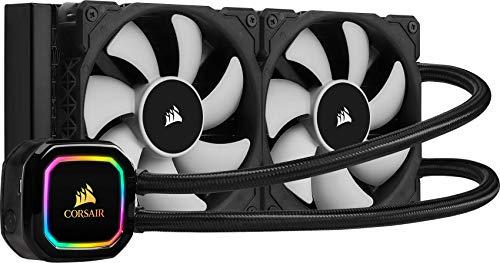 Corsair iCUE H100i PRO XT RGB Liquid CPU Cooler (240mm Radiator, Two 120mm Corsair ML Series PWM Fans, 400 to 2,400RPM) £79.98 @ Amazon