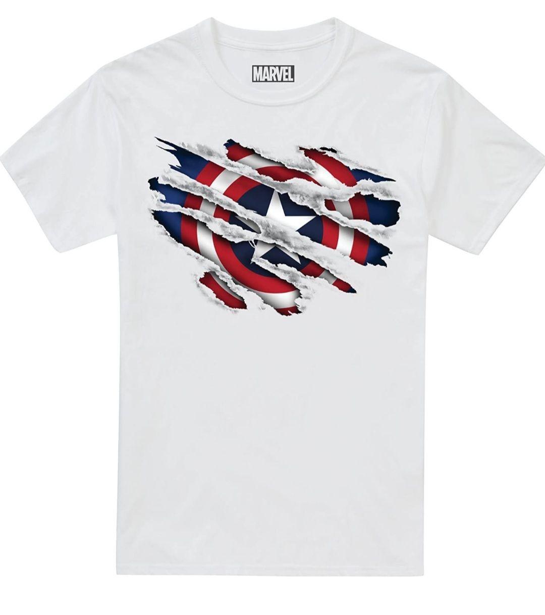 Marvel boy's Captain America retro t shirt size 11 to 12 years now £5.43 (+£4.49 Non-Prime) at Amazon