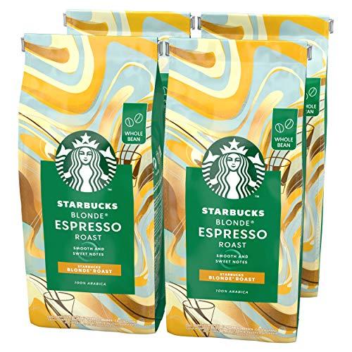 STARBUCKS Blonde Espresso Roast Coffee Beans 450g Bag (Pack of 4) £11.03 (+£4.49 Non-Prime) @ Amazon