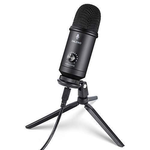 RALENO Microphones Professional USB Microphone Plug & Play w/Tripod PC Laptop Mac £10.20 w/Voucher (+£4.49 NP) @ LX EU Fulfilled By Amazon