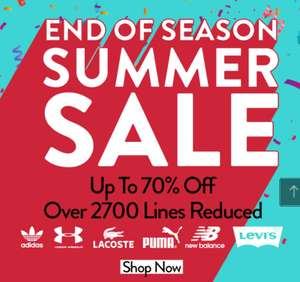 Up to 70% End of Summer Sale Including Adidas, Puma, Lacoste, Flia, Sketchers Free Delivery with code @ Get The Label