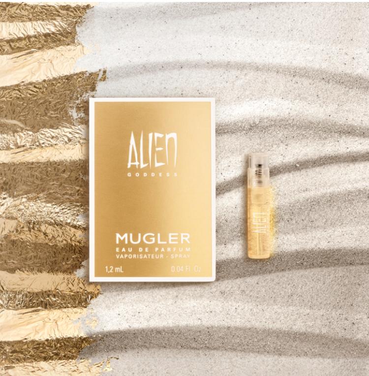 Free 1.2ml Sample of Mugler Alien Goddess Perfume at Mugler