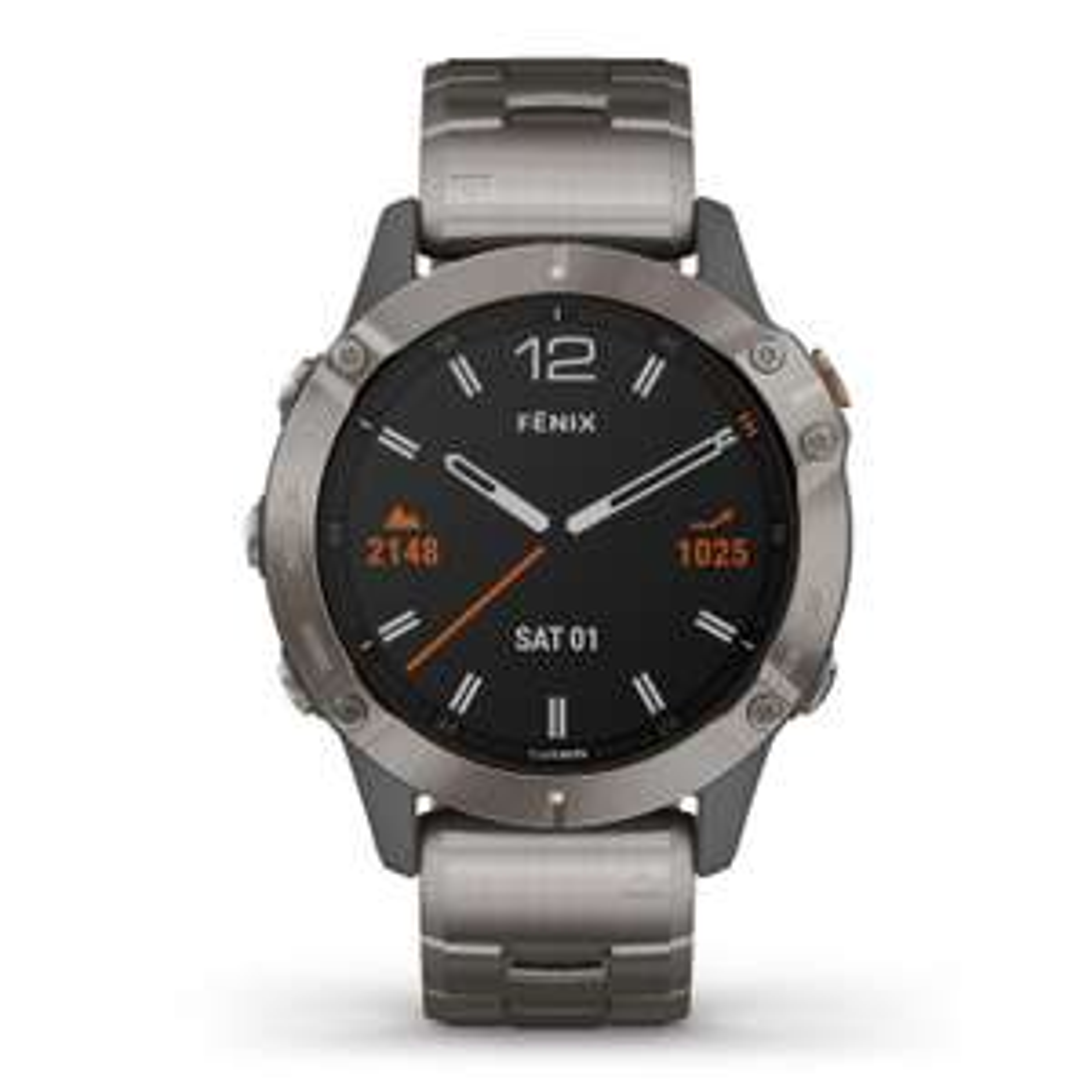 Garmin Fenix 6 Sapphire Titanium Watch (includes Orange strap) £640 at Beaverbrooks
