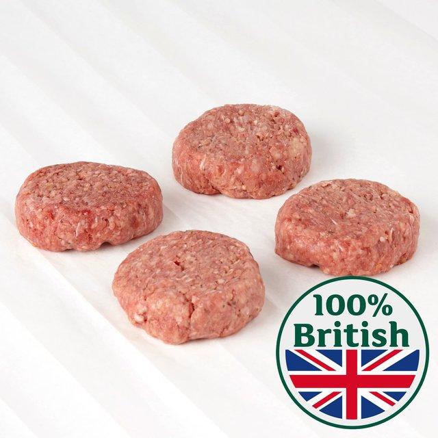 Half Price Offer Morrisons Butchers Counter Burgers - 6 Pack £2.40 Or 6 Pack Counter Pork Sausages 90p @ Morrisons Instore Tamworth