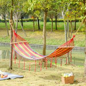 Outsunny 290 x 100cm Cotton Hammock - £7.99 Delivered Using Code (UK Mainland) @ eBay / Outsunny