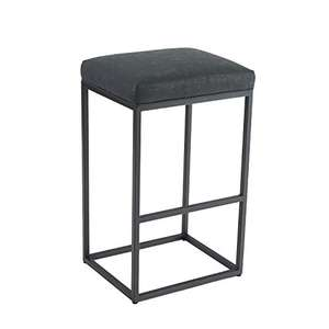 Bar Stool, Counter Height with Footrest, Pu Leather, In & Outdoor - Black - £25.99 Delivered by camping world & Fulfilled by Amazon.