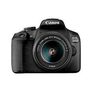 Canon EOS 2000D DSLR Camera and EF-S 18-55 mm f/3.5-5.6 IS II Lens, Black - £439 @ Amazon / Dispatched from and sold by Carmarthen Cameras
