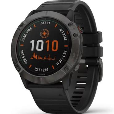Garmin Fenix 6X Pro Solar Titanium Carbon Grey DLC 51mm Watch £471.80 via Unidays discount @ Watcho