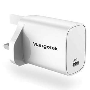 iPhone 12 Charger, 20W USB C Charger, PD Fast Charging USB C £6.74 with code + £4.49 NP Sold by Mangotek Euro and Fulfilled by Amazon