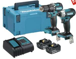 Makita DLX2414SJ 18V LXT 2 Piece Brushless Kit with 2x 3.0Ah Batteries, Charger and Case - £199.99 @ ITS