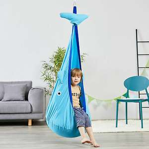 Kids Pod Swing, Sensory Hammock Hanging Chair for Indoor or Outdoor £16.79 with Code + Free UK Mainland Delivery From 2011homcom/eBay