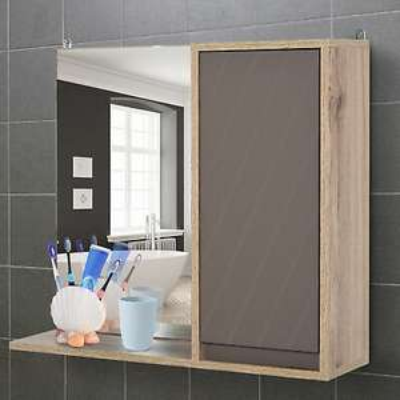 49x57cm Wall Mounting Bathroom Cabinet & Mirror w/ Inner Shelf £23.99 with Code 2011homcom/eBay ( Free UK Mainland Delivery )