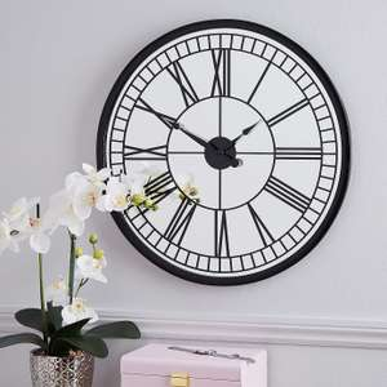 Dunelm Mirrored 57cm Wall Clock for £17.60 click & collect @ Dunelm