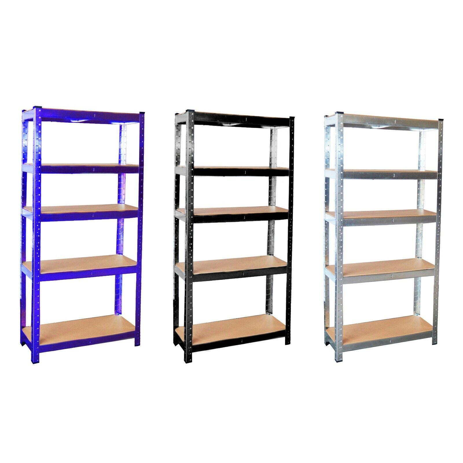 5 Tier Galvanised Steel Garage Shelving Racking Unit Storage Racks (Black or Blue) - £19.99 Delivered with code @ Neodirect eBay