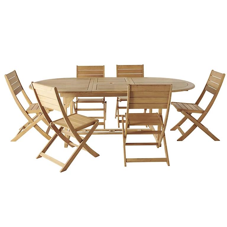 Kuantan Wooden 6 seater Dining set £600 delivered @ B&Q