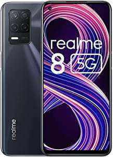 Realme 8 5G Mobile Phone 4GB/64GB, Sim Free Unlocked Smartphone with Dimensity 700 5G Processor - Black / Blue £134.99 @ Amazon