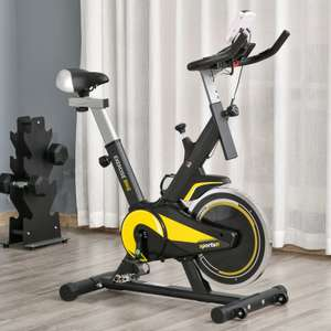 HOMCOM Exercise Bike 10kg flywheel Indoor Cycling with Adjustable Resistance LCD Display £79.99 with code (UK Mainland) outsunny ebay