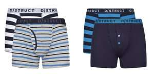 2 Pack - D/Struct Cotton Trunks (Various Colours / XS - XL) £3.60 With Code + Free Next Day Delivery @ Burton