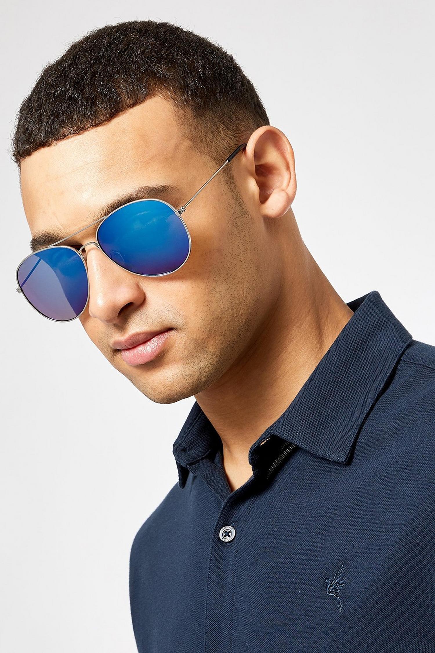 Blue Mirror Sunglasses - £1.80 Delivered (With Code) @ Burton
