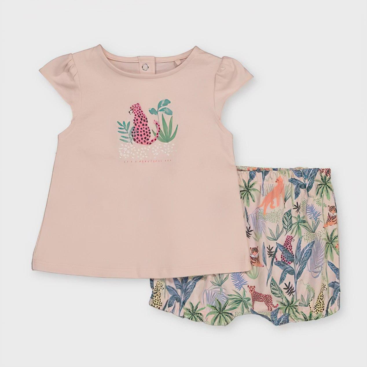 Pink Top & Jungle Print Shorts Set now £3.50 click & collect @ Argos