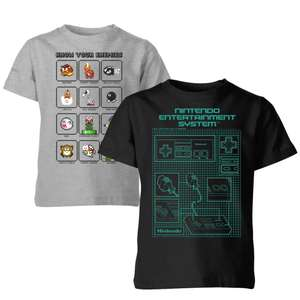 2 x Kids retro T-Shirts for £10 delivered with code - Nintendo, Marvel, Looney Tunes + more @ IWOOT