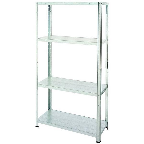 Galvanised Steel 4 Shelf Storage Unit - steel shelving rack - £13 at Homebase - click & collect