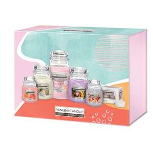 Yankee Candle Home Inspiration Gift Set (1 Large Candle, 2 Medium Candles, 2 Small Candles + Tealights) £20 (Clubcard Price) @ Tesco