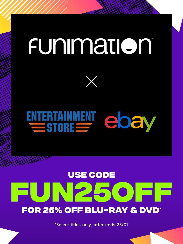 FunimationUK BD/DVD 25% off Anime sale @ entertainmentstore via EBay