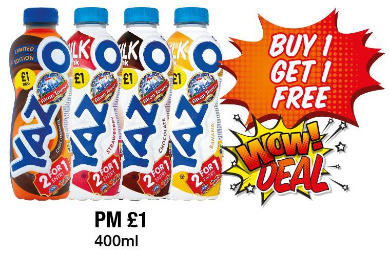 Buy one Get One Free - Yazoo Milk Drink 400 ml Various Flavours £1 @ Premier Stores