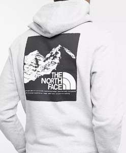 The North Face Back Graphic hoodie in grey Exclusive - £28.87 with code at ASOS