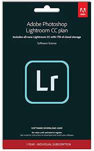 Adobe Lightroom (PC/Mac) 1TB for 1 Device and 1 Year subscription Key Card and Download - £58.95 @ Amazon