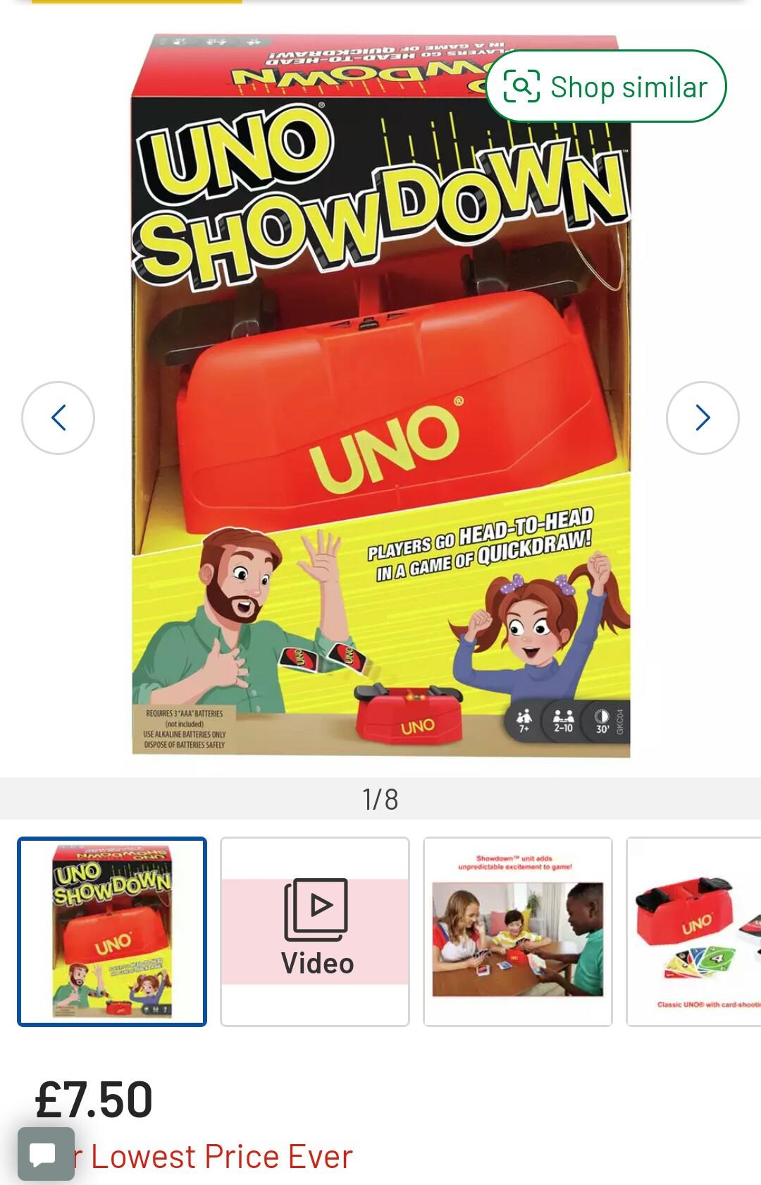 UNO Showdown Card Game £7.50 (Free Collection) @ Argos