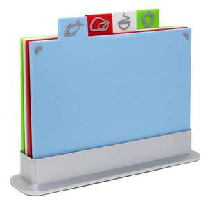 Non-slip Index Coloured Chopping Board Set With Stand - £7.99 Delivered @ eBay / roovcouk