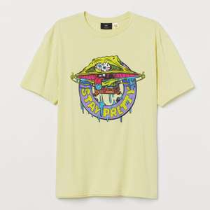 Print-motif T-shirt 'Stay Pretty Spongebob' £4 Delivered (Members - Free Signup) @ H&M