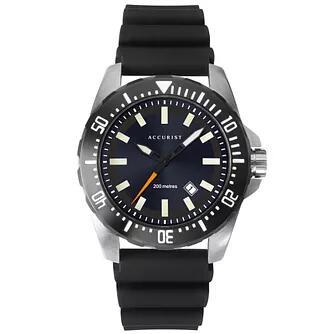Accurist Divers Style Men's Black Silicone Strap Watch £43.19 @ H Samuel
