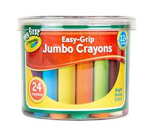24 Jumbo Crayola My First Easy Grip Crayons £2.75 (+£4.49 nonPrime) Amazon