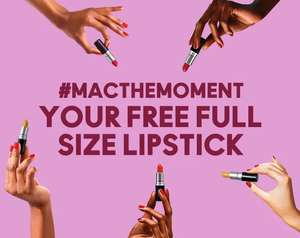 Free MAC lipstick with any purchase + free delivery @ Mac